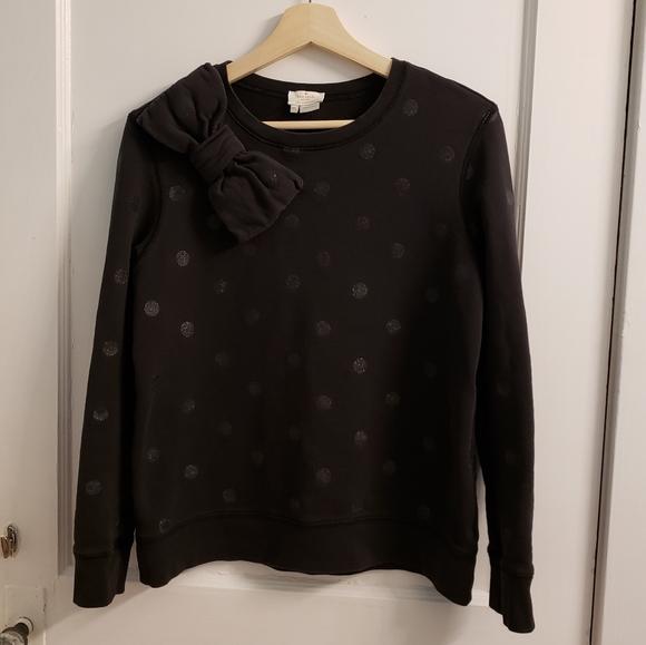 Kate Spade Black Polka Dot Sweatshirt